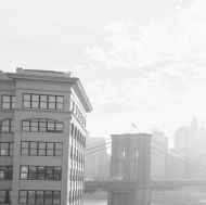 sun over brooklyn bridge