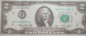 two dollar bill 1976