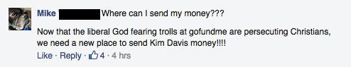 Facebook / Support KIM DAVIS