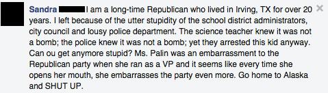 Facebook / Sarah Palin