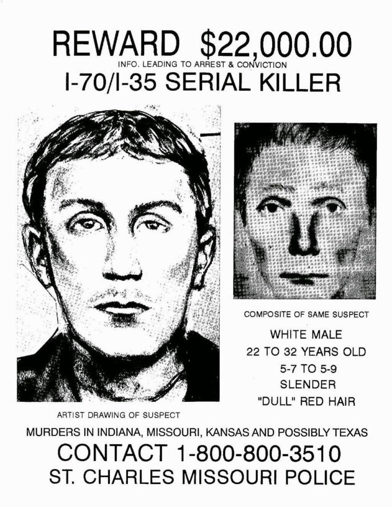 I-70 murderer composite sketch and reward poster