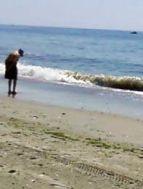 beach old man