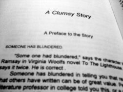 clumsy story