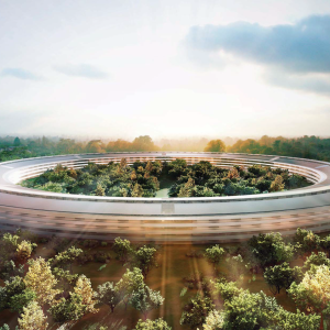 This Drone Footage Of Apple's New 'Spaceship Inspired' HQs Looks Like It's Straight Off The Set Of Star Wars