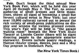 ny book fair 1976