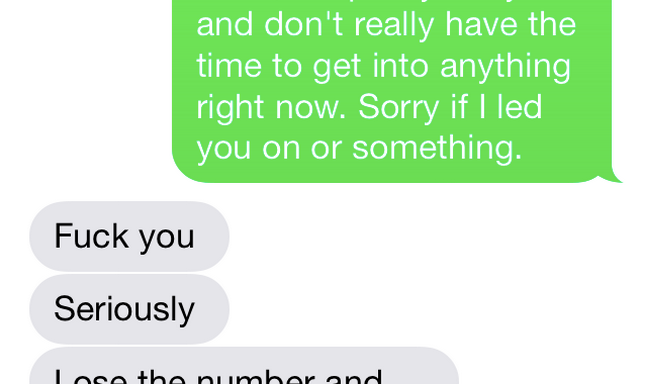Read This Unbelievable Text Convo Between A Woman And The 'Nice Guy' She Gave Her NumberTo