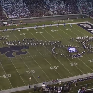 KSU Is Very Sorry That Their Marching Band Formation Looked Like A Jayhawk Performing Fellatio