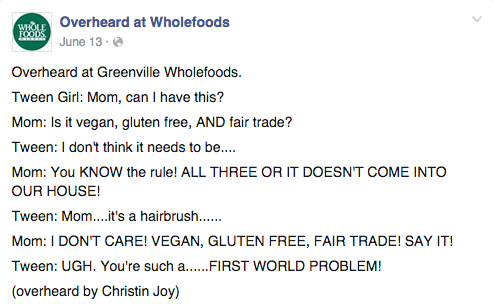 Facebook / Whole Foods