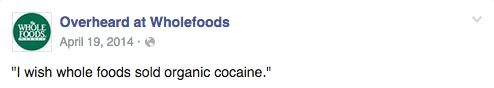Facebook / Whole Foods