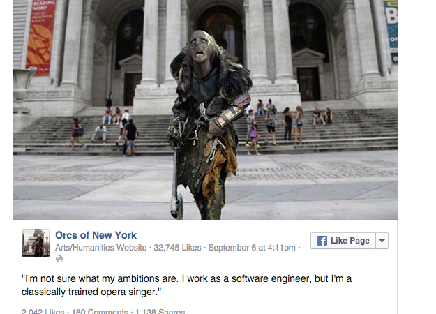 'Orcs Of New York' Is The Playful 'Humans Of New York' Parody We Didn't Know WeNeeded