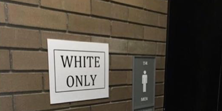 'White Only' And 'Black Only' Signs Found On University At BuffaloCampus