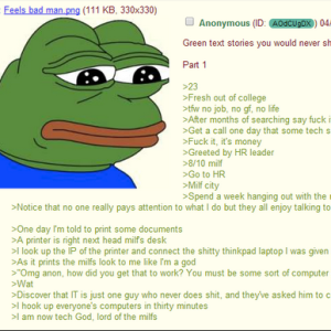 4chan User Tells Epic Tale Of How He Usurped An IT Guy's Position And Got The Girl