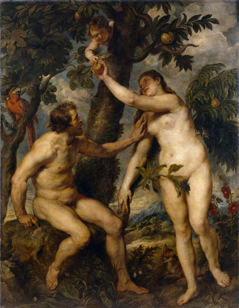 Adam and Eve a painting by Peter Paul Rubens.