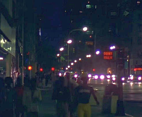 1976 manhattan street at night