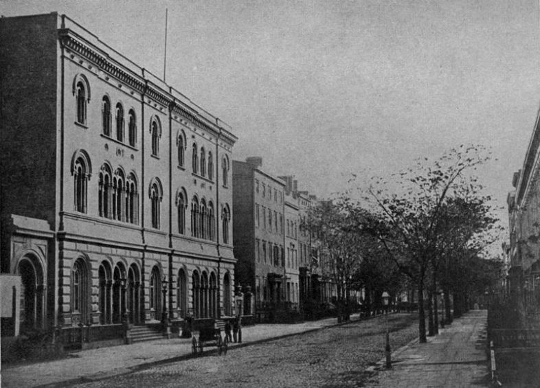 """""""The Astor Library Building """"From a photograph probably taken about 1870"""""""