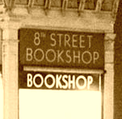 8th street bookshop sign