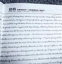 diary 1971 page
