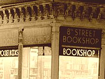 eighth street bookshop sign