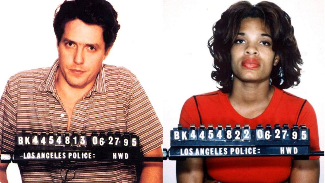 Hugh Grant and Divine Brown. (Los Angeles Police Department)