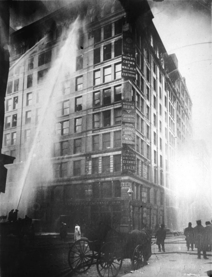 Image of Triangle Shirtwaist Factory fire on March 25