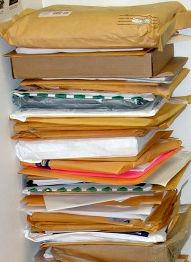 manuscripts piled high