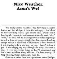 nice weather aren't we