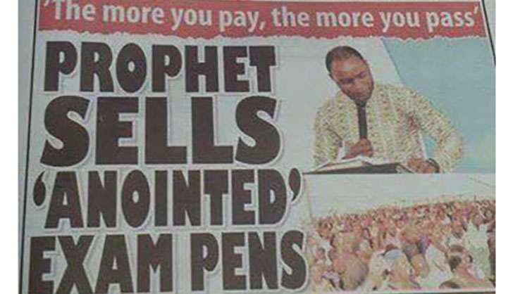 Pastor Sells 'Holy Pens' That Will Help You Pass Exams Without Studying. The More You Pay, The Better You'llDo!