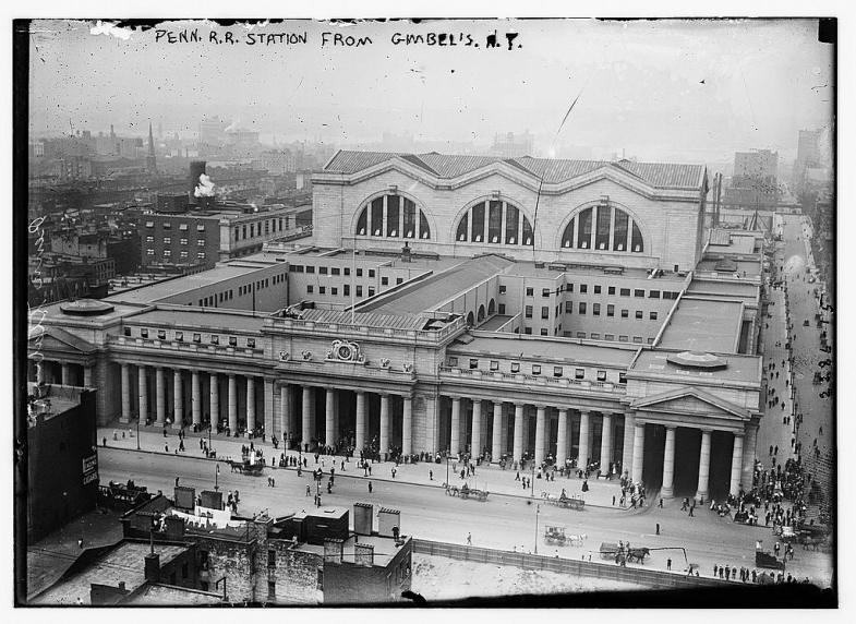 Penn. RR Station from Gimbel's N.Y. (LOC), 1911