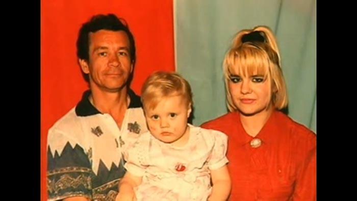 Komin, Irina Ganushina and his two year-old son  a