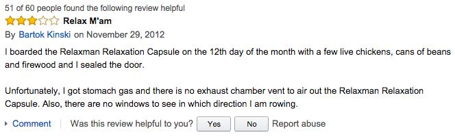 Amazon / Relaxman Relaxation Capsule