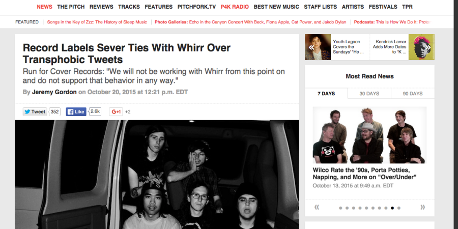 It's Not Just Transphobia: Whirr's ProblematicHistory