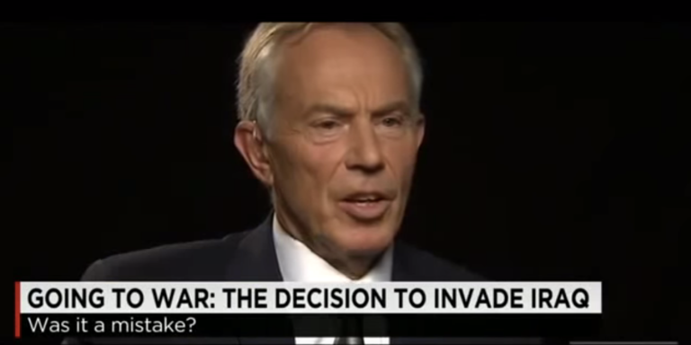 Former British Leader Tony Blair Apologizes For Iraq War (SortOf)