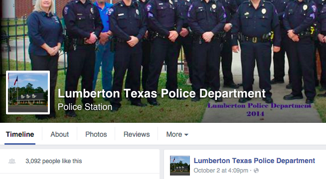 Facebook / Lumberton Texas Police Department