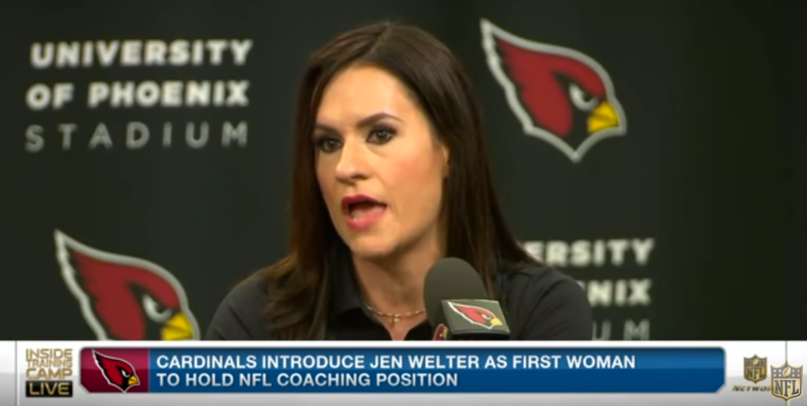 NFL's first female coach Jen Welter: 'I didn't even dream this was possible' / NFL Youtube