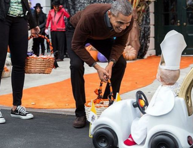 President Obama Can't Get Over This Adorable 'Baby Pope' Costume