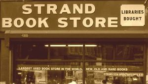 strand bookstore sign