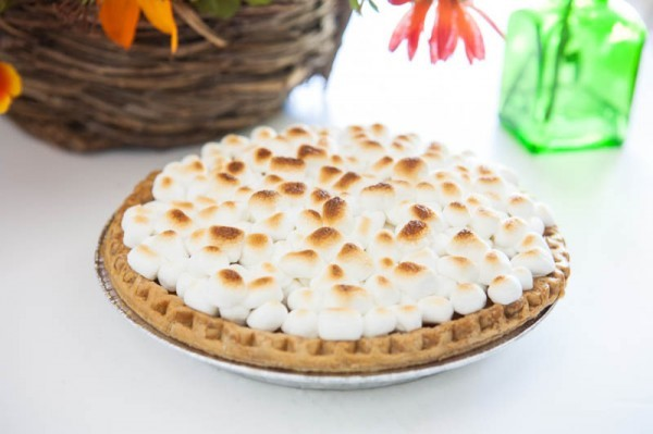 Sweet Potato Pie with Marshmallows & Spiced Cream from Eclectic Recipes