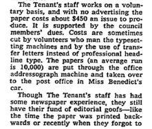 tenant newspaper