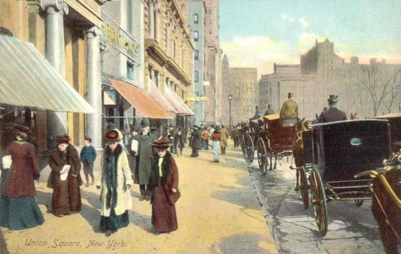View of Union Square, New York, 1908