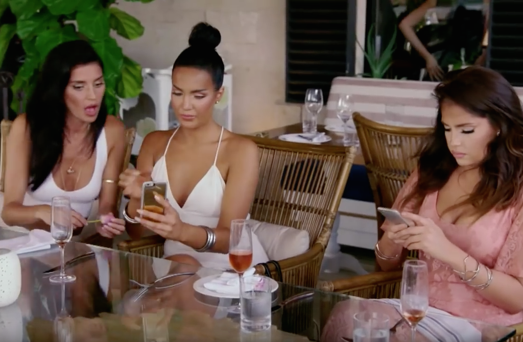 A scene from E!'s reality show WAGS: Wives and Girlfriends of Sports Stars. (YouTube)