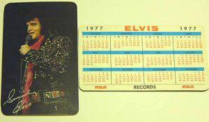 Elvis calendar 1977