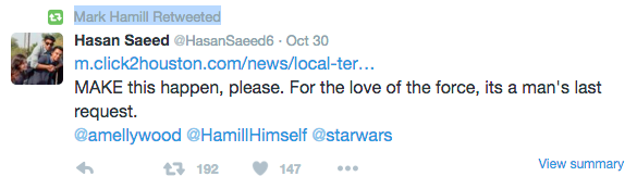 Twitter via Mark Hamill