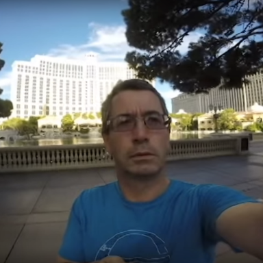 Classic Dad Move: Endearing Father Films Entire Vacation With Camera Pointed The Wrong Way