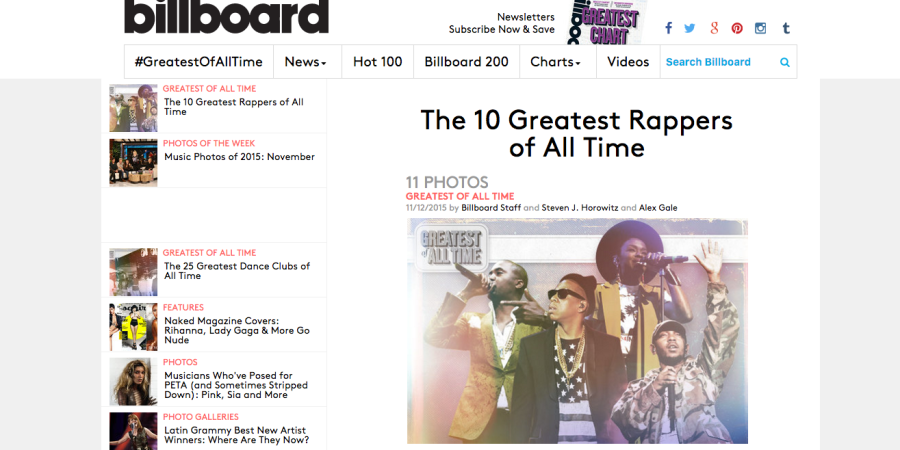 The 10 Greatest Rappers By Era