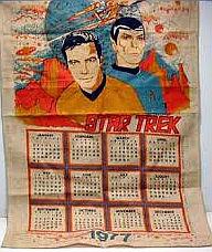 Star Trek 1977 calendar
