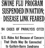 swine flu suspended
