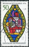West Germany 1976 Christmas stamp