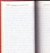 1976 diary pages