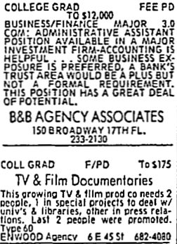 1977 want ads