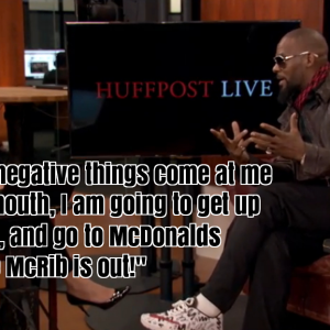 R. Kelly Walks Out Of Live Interview To Avoid Sexual Assault Allegations (And Search For A Juicy McRib)